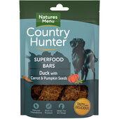 7 x Country Hunter Dog Superfood Bar - Duck With Carrot & Pumpkin Seeds 100g