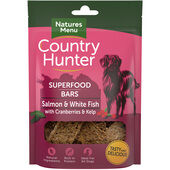 7 x Country Hunter Dog Superfood Bar - Salmon & White Fish With Cranberries & Kelp 100g