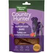 7 x Country Hunter Dog Superfood Bar - Turkey With Cranberries & Pumpkin 100g