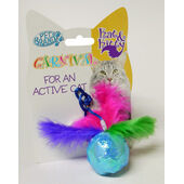 Pet Brands Ball Toy With Feathers