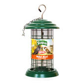 Supa Easy Fill Plastic Fortress Peanut Feeder Green 20cm