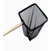 Supa Black Pond Net With 70 cm Wooden Handle