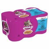24 x Whiskas Can Jelly Fish 390g