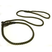 KJK Ropeworks Slip Lead With Rubber Stop Olive Green 8mm X 150cm