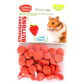 6 x Critter's Choice Strawberry Buttons 40g