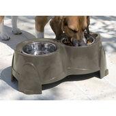 Savic Ergo Raised Twin Stainless Dog Bowls