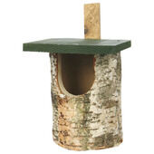 C J Wildlife Birch Log Nest Box Open Front (fsc)