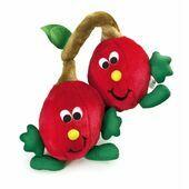 PetLove 'Fruit Salad Softees' Twin Cherries Plush Dog Toy