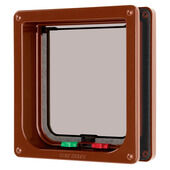 Cat Mate 4 Way Locking Flap & Liner Brown 16.5x17.4cm