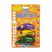 Pet Brands Three Bright Mice Cat Toy With Cat Nip