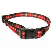 Ancol Heritage Adjustable Dog Collar Tartan Red