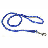Ancol Heritage Nylon Reflective Rope Lead Blue 1.1m X10mm Size 1-3