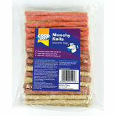 Good Boy Munchy Rolls Assorted Dog Chew 12cm x 9-10mm 100Pack