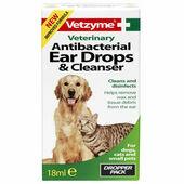 Vetzyme Pet Anti-bacterial Ear Drops & Cleanser 18ml