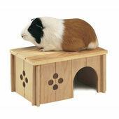 Ferplast Sin 4645 Wooden Guinea Pig House Hideaway - 26 x 18.5 x 13.5cm