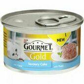 12 x Gourmet Gold Savoury Cake Tuna In Gravy 85g