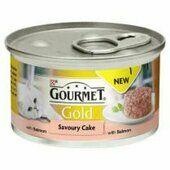 12 x Gourmet Gold Savoury Cake Salmon In Gravy 85g