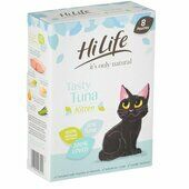 4 x Hilife It's Only Natural Cat Pouch Kitten Tasty Tuna 8x70g