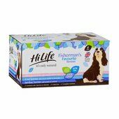 2 x Hilife It\'s Only Natural Dog Can Fisherman\'s Favourite Terrines 6x395g