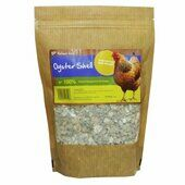 8 x Natures Grub Oyster Shell Pouch Poultry Supplement 1.2kg