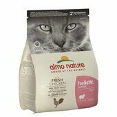 6 x 400g Almo Nature Holistic Dry Cat Kitten Food With Fresh Chicken