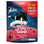 5 x Felix Play Tubes Turkey & Ham Maxi Pack 180g