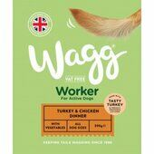 4 x Wagg Worker Wet Turkey Multipack 4x 390g