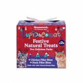 Rosewood Cupid & Comet Festive Natural Treats Gift For Cats 100g
