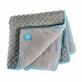 Small Bite Pocket Blue Dog Blanket 60 x 60cm