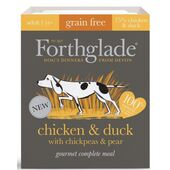 7 x 395g Forthglade Gourmet Grain Free Chicken And Duck Dog Food