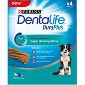 5 x Purina Dentalife Medium Dog Chews 4 Stick Dog Chews 197g