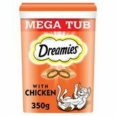2 x Dreamies Cat Treats With Chicken Megatub 350g