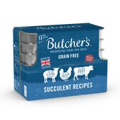 36 x Butcher's Tray Dog Food - Succulent Meat 150g