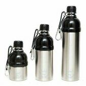 Long Paws Lick 'n Flow Dog Water Bottle Silver