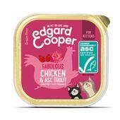 19 x Edgard & Cooper Kitten Wet Chicken & Asc Trout 85g