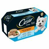 24 x 150g Cesar Senior Dog Food Trays Mixed Selection In Jelly