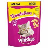 4 x 180g Whiskas Temptations Cat Treats With Chicken & Cheese