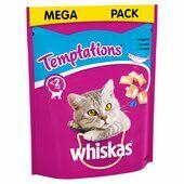 4 x 180g Whiskas Temptations Cat Treats With Salmon