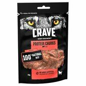 6 x 55g Crave Protein Chunks With Beef