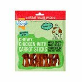 3 x 320g Good Boy Pawsley & Co Chewy Chicken With Carrot Sticks Dog Treat