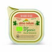 19 x 85g Almo Nature Bio-organic Maintenance Wet Cat Tray With Salmon