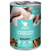 12 x 385g Billy & Margot Puppy Chicken Can With Superfoods