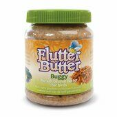 12 x 330g Flutter Butter Bird Food Jars Buggy