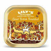 10 x 150g Lily's Kitchen Wet Dog Tray Great British Breakfast