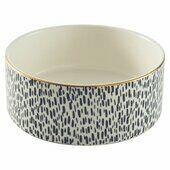 Mason Cash Splatter Pet Bowl With Gold Rim 15cm