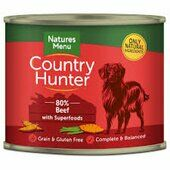 Country Hunter Meals Dog Food Can 80% Beef With Superfoods 600g