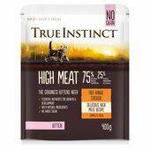 8 x 400g True Instinct High Meat Kitten Food Free Range Chicken