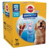 Pedigree Dentastix Daily Oral Care Dental Chews Large Breed (105 Sticks)