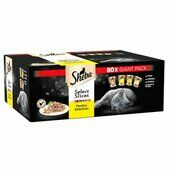 80 x 85g Sheba Adult Cat Food Pouches Select Slices Poultry Collection In Gravy