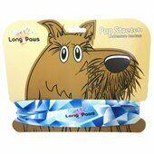 Long Paws Dog Bandana Blue Geo 25 x 25cm